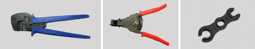 Stripping cutting and crimping tools