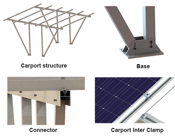 Waterproof solar Carport Structures